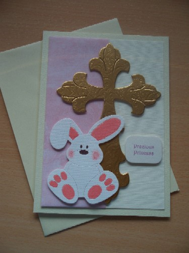 Baby Girls sympathy card tiny baby bereavement card CUTIE BUNNY