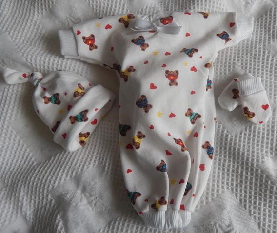 unisex stillborn babiesfuneral clothes 3 piece TEDDIES GALOREborn at24 Weeks