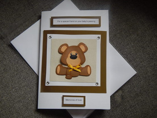 Baby Loss Cards for A friend miscarriage MEMORIES OF LOVE unisex