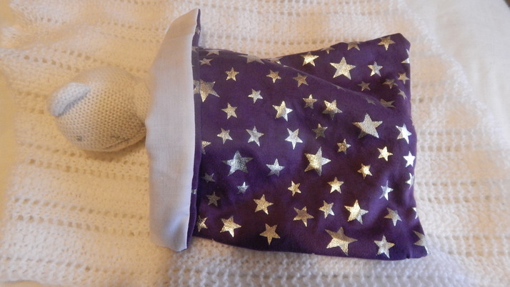 Smallest unisex baby burial blanket SILVER STARLIGHT born 18-19 weeks