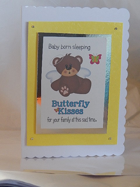 bereavement cards babies sympathy cards miscarriage baby loss BUTTERFLY KISSES