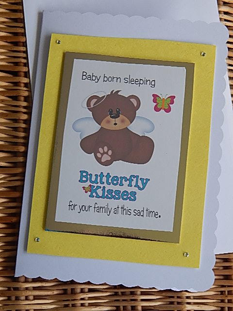 baby sympathy cards miscarriage baby loss BUTTERFLY KISSES