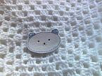 baby burial blanket for babiesfuneral WHITE  Blue TED born 22-24 weeks