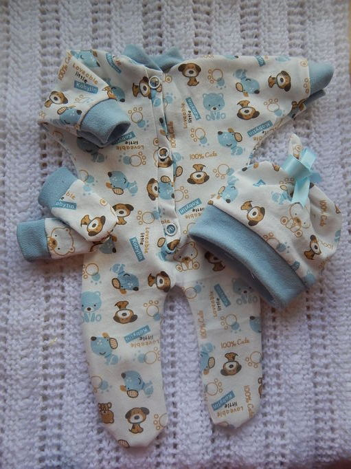 stillborn baby boy burial clothes PUPPY PALS babies born 24-25 weeks