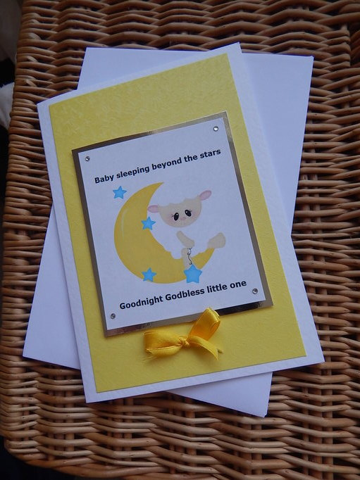 unisex babies burial card Infant miscarriage LITTLE LAMB baby loss