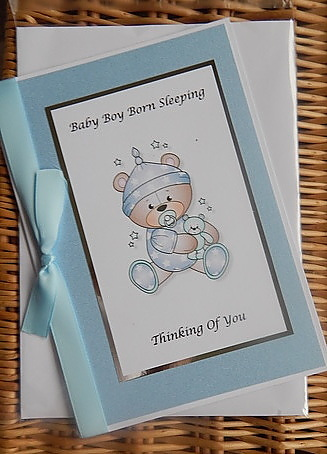 baby sympathy cards infant BOY card plus sympathy message  STARY NIGHT