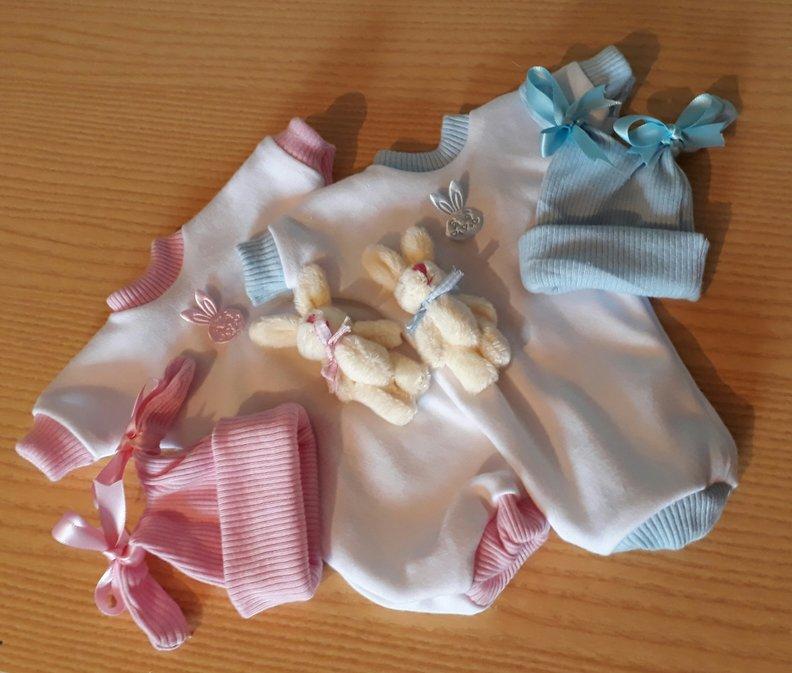 twins baby burial clothes BUGSY N BUFFY born at 20 weeks stillbirth