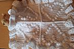 tiny baby blanket LOVED ONE in white burial crochet blankets born 23-24 weeks