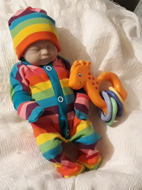 stillborn babies outfit CANDY STRIPES  turquoise trims born at 20 weeks pregnant