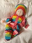 Girls baby burial clothes  born at 20 weeks CANDY RAINBOW