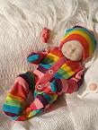 stillborn baby clothes burial full outfit  CANDY RAINBOW born 22 24 weeks