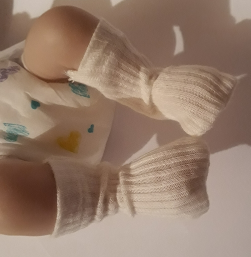 smallest tiny baby clothes miscarriage at 20 weeks burial Socks in cream