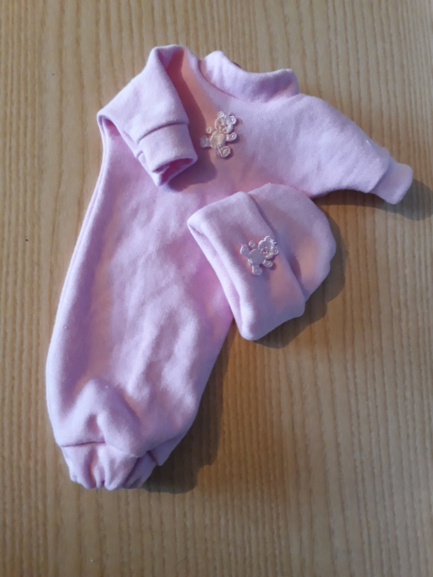 girls baby burial clothes gowns pink NA NITE SLEEPTIGHT born 16-18 weeks
