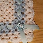 miscarriage at 22 weeks blanket burial RIBBON TRIM blue