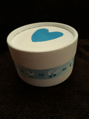 smallest baby cremation urn biodegradable scattering ashes tube BLUE HEART