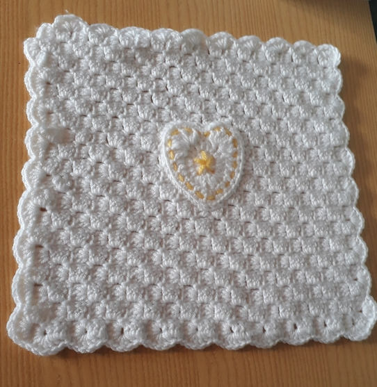 crochet blanket baby born at 22-24 weeks burial blankets HEART OF GOLD