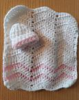 miscarriage at 17 weeks baby burial blanket and hat ZOOM babypink