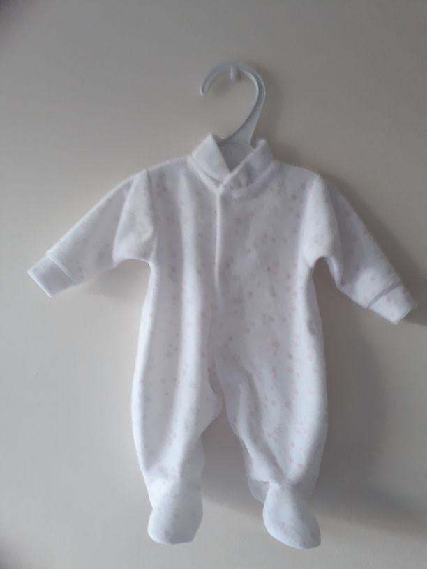 girls burial baby clothes tiny infant size white and pink 2-3lb starlight