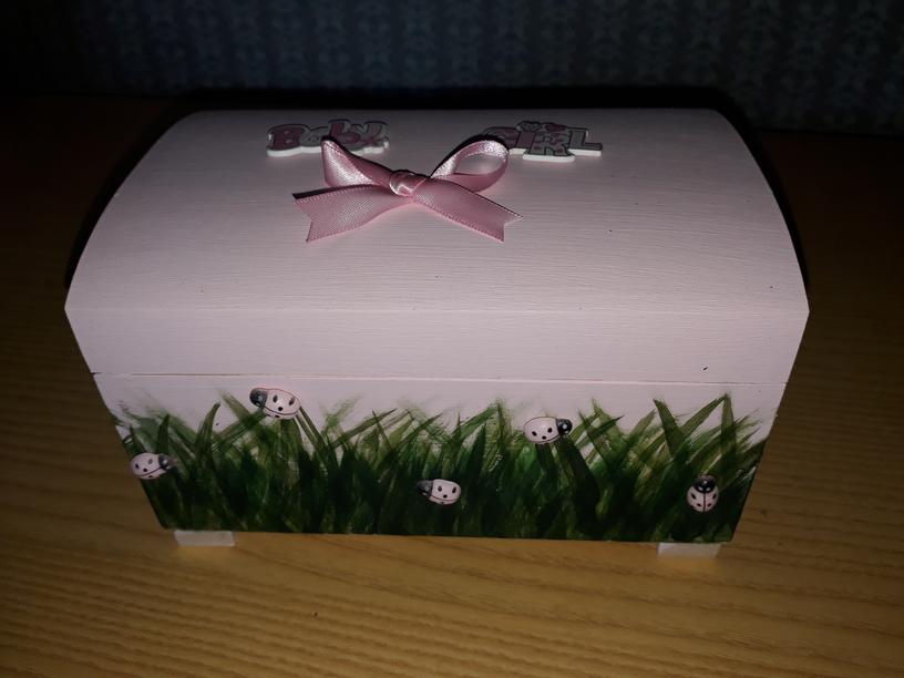 stillborn newborn baby ashes caskets uk LITTLE LADYBIRDS Pink urn 6-12lb