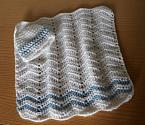 stillborn baby burial blanket funeral born at 23 weeks ZOOM white blue