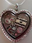 keepsake jewellery Girls memorial necklace locket ETERNAL LOVE heart