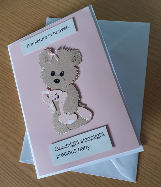 baby girls sympathy card bereavement cards here HUGGS pink beautiful