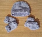 stillbirth miscarriage baby burial clothes COMFY KNITTED LAYETTE SET born at 20 weeks blue