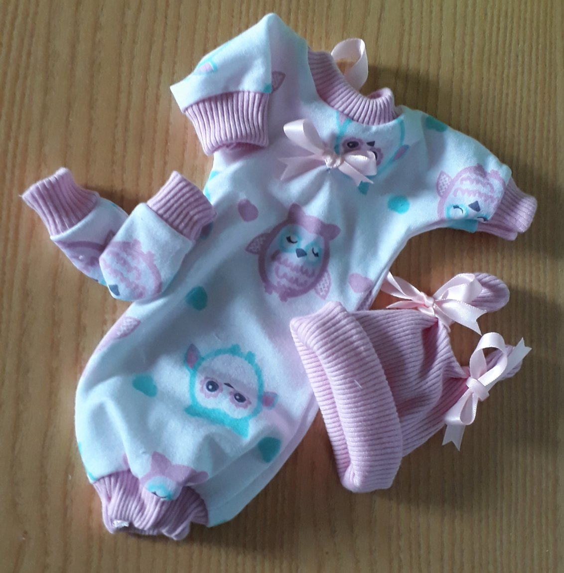 little girls baby burial gown TWITTERBYES Pink n mint Owls born at 18 weeks