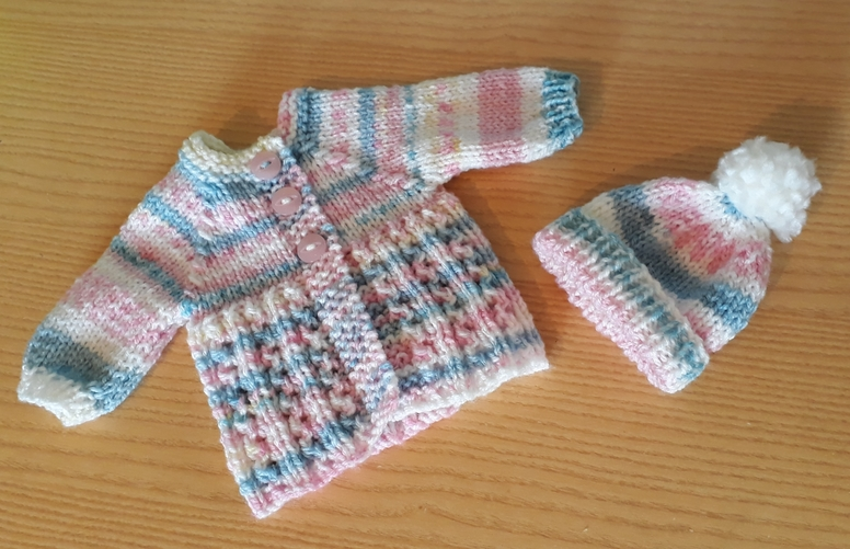 stillbirth tiny baby clothes  infant burial CARDIGAN set CANDYFLOSS born at 24 weeks