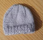 miscarriage at 18 weeks baby burial clothes TINY hat knitted blue
