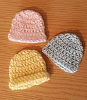 baby burial clothes boys girls unisex BEANIE CROCHET HAT born at 20 weeks