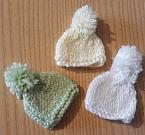 smallest baby burial clothes MINI BOB HAT all colours born at 16 weeks