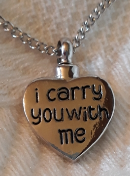 keepsake ASHES urn memorial necklace cremation jewellery CARRY YOU FOREVER