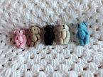 tiny teddy bears 4cm baby memory box burial service gift BRAVO BEAR