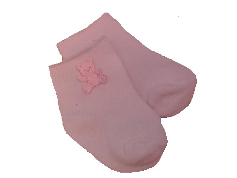 stillbirth Baby Burial Wear Funeral Accessories white sock TED pink 3-5lb