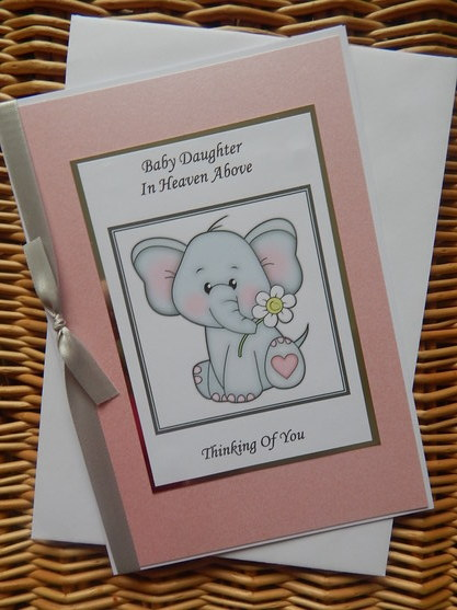 girls sympathy card baby loss PRECIOUS MEMORIES