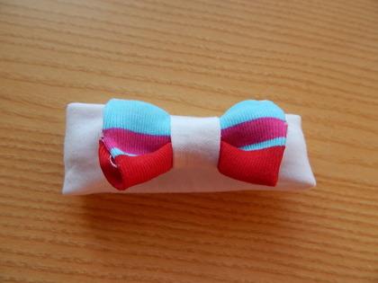 girls baby burial clothes HEADBAND micro sizes RAINBOW Born 20-22weeks