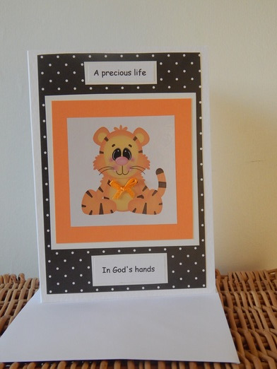 Sympathy cards infant burial baby miscarriage unisex LITTLE TIGGS