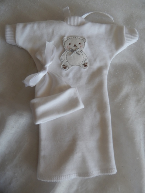 Baby Loss infant burial clothes TEDDY DAYDREAM White stillborn babies 0-1.5lb