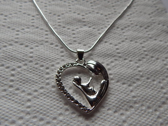 losing a baby memorial jewellery necklace silver MOTHER AND BABY