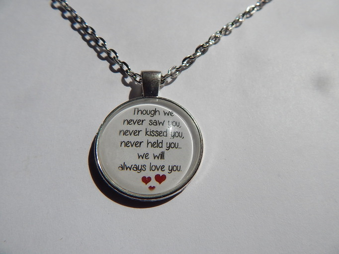 baby memorial gift necklace infant Miscarriage ALWAYS LOVED jewellry