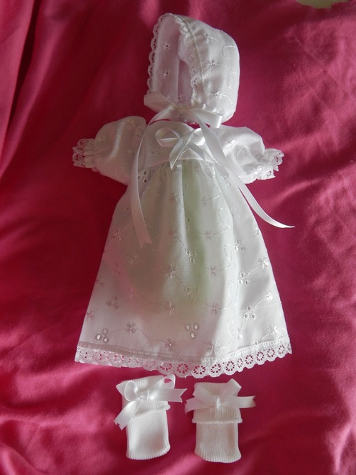 girls baby burial gown dress set SWEETNESS 0-1.5lb born at 23-24 weeks