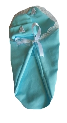Aqua Blue fetal demise pouch baby loss baby and hat WEE TED  born at 20-22 week