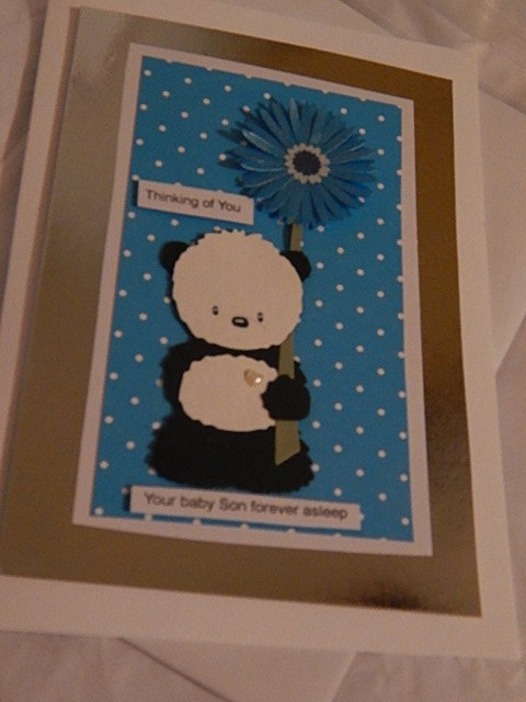 sensitive Babies Bereavement Cards Boys PEACEFUL PANDA handmade