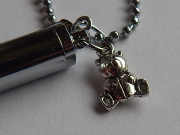 Cremation services pendant Ashes Urn keepsake necklace TEDDY