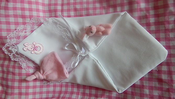baby burial pouch fetal demise PINK full set babies born 16-17 week