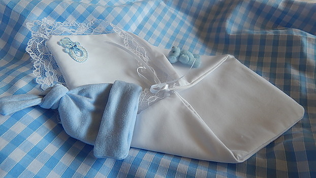 miscarriage fetal demise pouch BLUE complete baby born at 16 -17 week burial