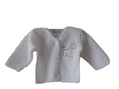 infant baby burial clothes WHITE Cardigan Silver Giraffe beautiful 3-5lb size