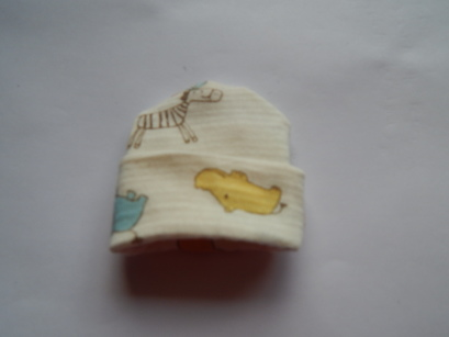 tiny baby burial clothes premature hat babies born at 17 -18 weeks JUNGLE KINGDOM