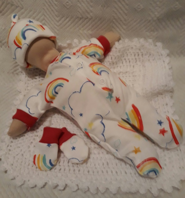 stillborn  baby clothes UNISEX born at 24 weeks RAINBOW PROMISE